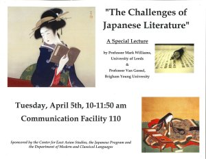 Challenges of Japanese Literature.