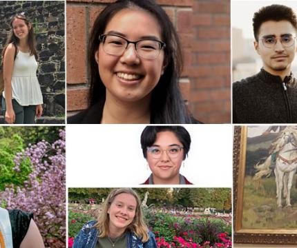 Photo collage of 2019-20 CHSS Outstanding Graduates from Humanities disciplines.