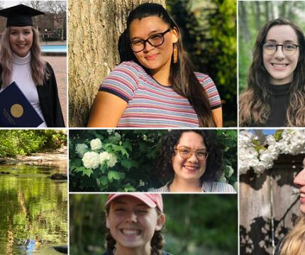 Photo collage of 2019-20 CHSS Outstanding Graduates from Social Sciences disciplines.
