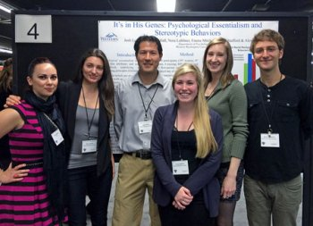Six students and faculty members presenting their research